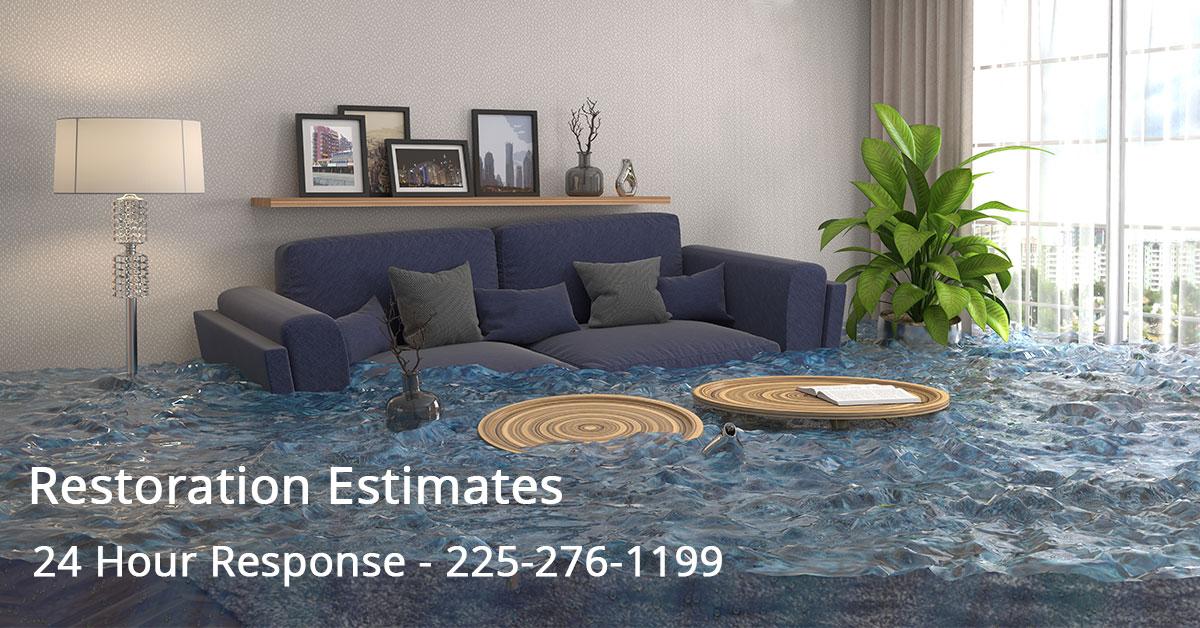 Water Mitigation Estimator in Monroe, LA