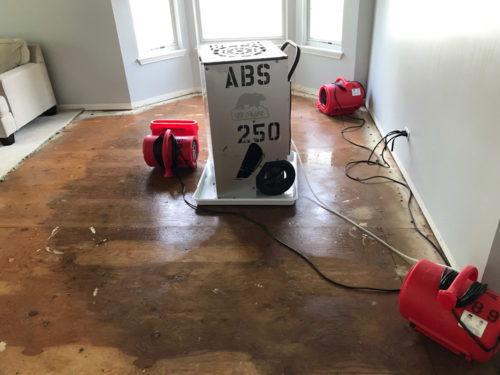 water damage cleanup in Pleasant Prairie, WI
