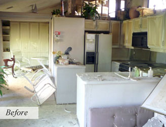 Before Storm and Water Damage Restoration by Accutech Restoration & Remodeling