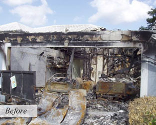 Before Fire Damage Restoration by Accutech Restoration & Remodeling
