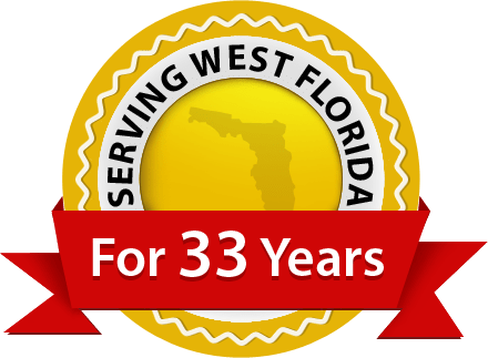 Serving West Florida For 33 Years Badge