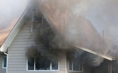 fire damage in Mount Pleasant, WI