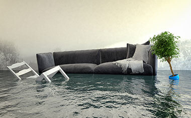 water damage in Mount Pleasant, WI