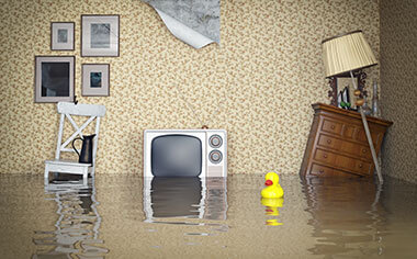 water damage in Rochester, NY