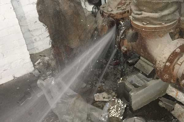 Frozen Water Pipe Leak Repair And Cleanup in Clinton County Michigan.