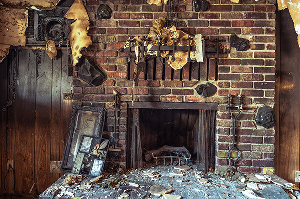 Soot Damage Restoration in Eaton County Michigan.