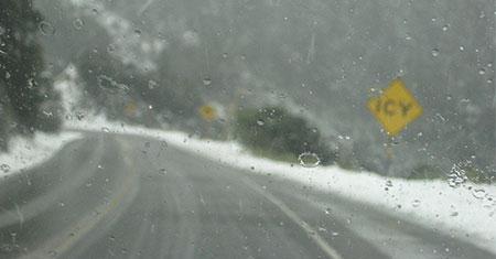 wet snow and rain