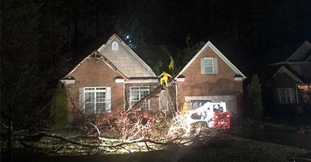storm damage in matthews nc