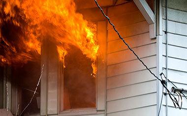 fire damage in Dallas, TX