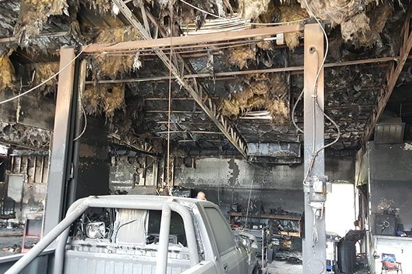 Auto Shop Fire Claim