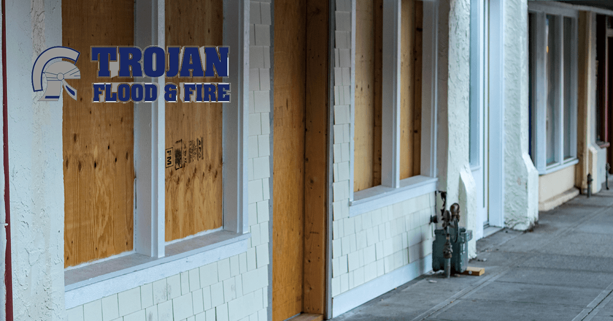 Trojan Flood & Fire Disaster Board Up Services in Park Forest IL