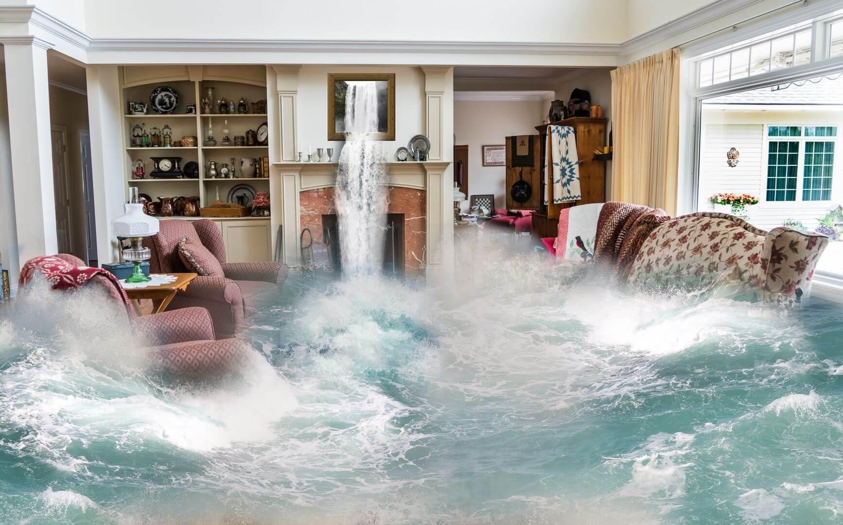 water damage in Los Angeles, CA