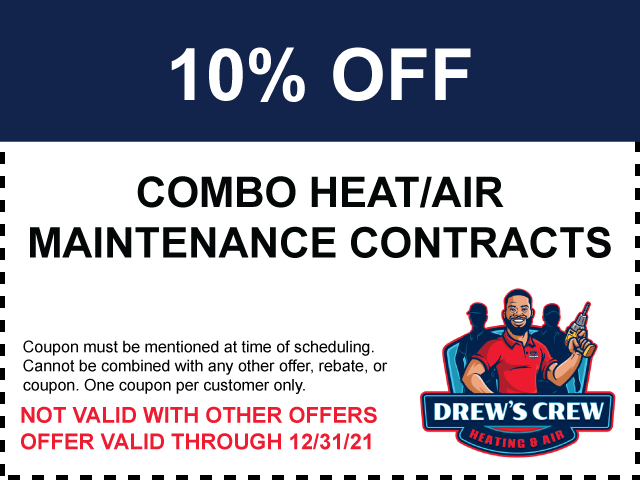 10% Off Combo Heat/Air Maintenance Contracts