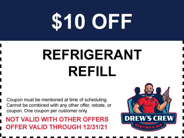 $10 off Refrigerant Refill