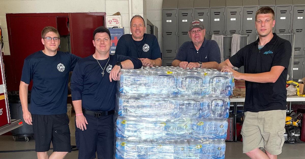 barren hill fire company water donation