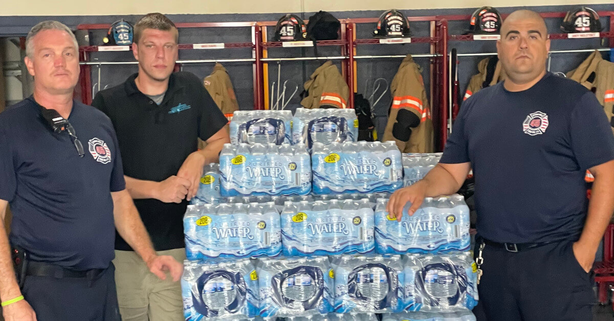 spring mill fire company water donation