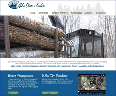 Virtual Vision Computing - Wausau WI launches new Website for Lake State Timber, LLC