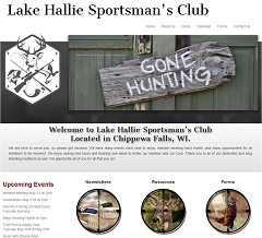 Virtual Vision Computing - Wausau WI launches new Website for Lake Hallie Sportsman's Club in Chippewa Falls, WI