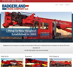 Virtual Vision Computing launches new Website for Badgerland Crane Company LLC