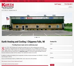 Virtual Vision Computing launches new Website for Kurth Sheet Metal Inc of Chippewa Falls WI