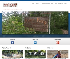 Virtual Vision Computing launches new website for Kimps Kamp on Dead Lake MN