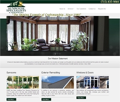 Virtual Vision Computing launches new Website for Sunroom Specialists & Remodeling of Eau Claire WI
