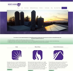 Virtual Vision Computing launches new Website for North Wind Renewable Energy of Stevens Point WI