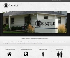 Virtual Vision Computing - Wausau WI launches new Website for Castle Insurance Group of Eau Claire WI