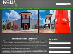 Virtual Vision Computing - Wausau WI launches new Website for KSW Construction Corporation in Madison WI