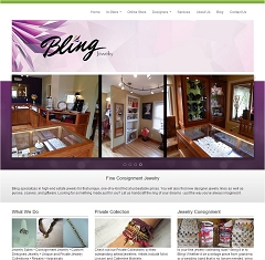 Virtual Vision Computing launches new Website for Bling it Around Again in Schofield WI
