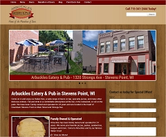 Virtual Vision Computing launches new Website for Arbuckles Eatery and Pub in Stevens Point WI