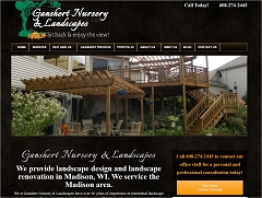Virtual Vision Computing launches new Website Ganshert Nursery & Landscapes of Madison WI