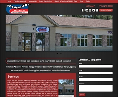 Virtual Vision Computing - Wausau WI launches new Website for Backsmith Advanced Physical Therapy in Weston WI