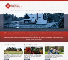 Virtual Vision Computing - Wausau WI launches new Website for Hadden Insurance Agency, Inc