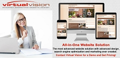 Get new customers! Virtual Vision's All-in-One Website Solution is a content management system website design solution that automatically posts messages to your Twitter Business Page. Get more sales using Virtual Vision's All-in-One Website Solution for as little as $100 per month. Get a demo. Follow the links.