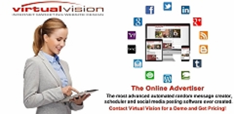 Automate! Virtual Vision's Online Advertiser automates posts with pictures that will appear in your Social Media News Feed about your job openings.
