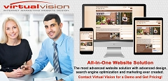 Save Money? Automate! Virtual Vision's All-in-One Website Solution is a website design solution that automatically posts to Search Engines: Google, Bing and Yahoo. Get your questions answered. Follow the links.