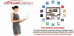 Virtual Vision's Online Advertiser schedules posts with pictures that will appear in your Email Newsletter about your promotions and sales.