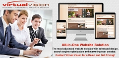 Save Money? Automate! Virtual Vision's All-in-One Website Solution is a website design solution that automatically search engine markets your web pages. Get Answers. Get a Demo. Get Pricing. Contact Us.