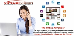 Start Now! Virtual Vision's Online Advertiser automates messages with pictures that will appear in your LinkedIn News Feed about your products and services.