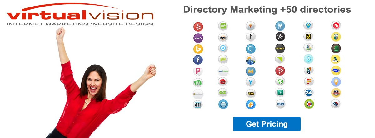 Virtual Vision provides Directory Marketing Business Listings Submissions.