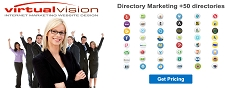 Don't be left behind! Virtual Vision offers Directory Marketing Business Listings Submissions. Get your business listed in +50 directories.