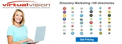 Virtual Vision provides Directory Marketing Business Listings Services. Get your business listed in +50 directories.