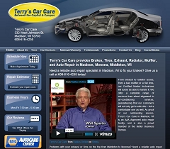 Virtual Vision Computing - Wausau WI launches new Website for Terry's Car Care in Madison WI