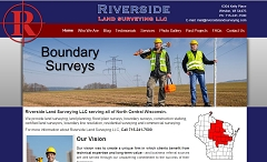 Virtual Vision Computing - Wausau WI launches new Website for Riverside Land Surveying LLC located in Weston WI
