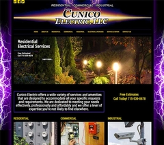 Virtual Vision recently launched a new website for Cunico Electric in Merrill, WI