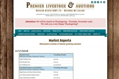 Virtual Vision updated the Market Report section on Premier Livestock