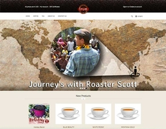 Virtual Vision recently redesigned True Coffee Roasters
