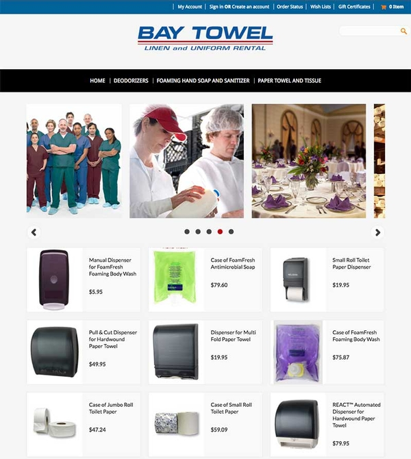 Virtual Vision added 2 new products to Bay Towel's Ecommere