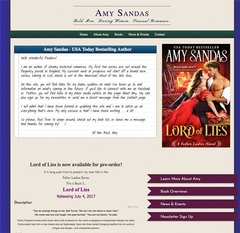 Virtual Vision Helped Author Amy Sandas update her  website.